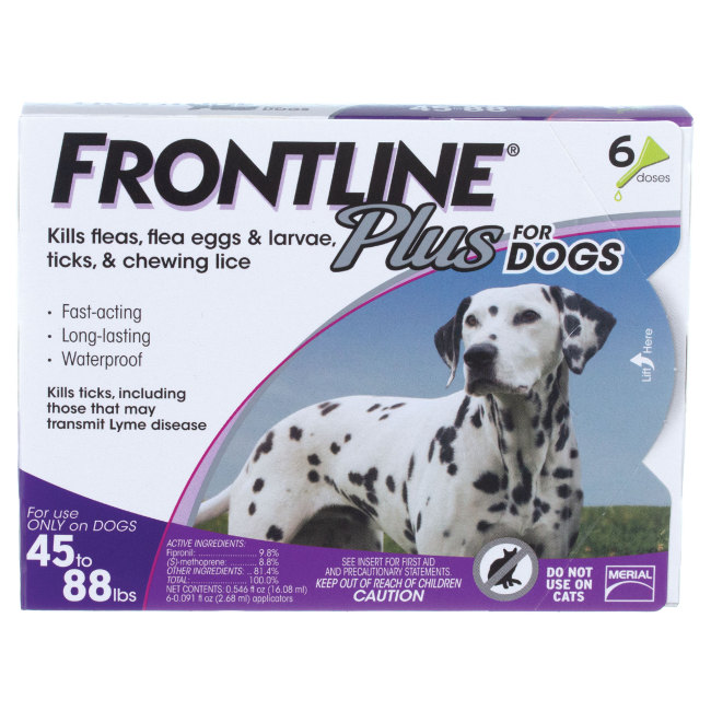FRONTLINE Plus for Dogs 4588 lbs 6pk