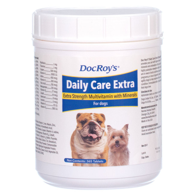Doc Roys DAILY CARE EXTRA CANINE 365 ct