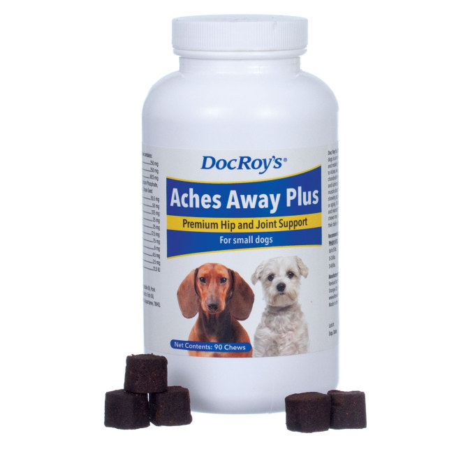 Doc Roys Aches Away Plus 90 ct Small Chew