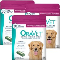 3PACK OraVet Dental Hygiene Chews  Large Over 50 lbs 90 Count