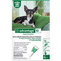 4 MONTH Advantage Green For Dogs under 10 lbs