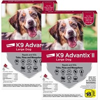 12 MONTH K9 Advantix II RED for Large Dogs 2155 lbs