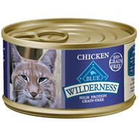Blue Buffalo Wilderness Grain for Cats  Free Chicken Recipe for Cats  24 pack 3oz