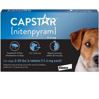CAPSTAR Blue for Dogs or Cats 225 lbs 6 tablets