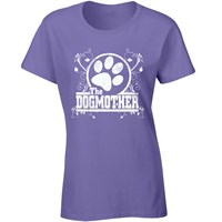 Womens TShirt  The Dogmother  Large Lilac