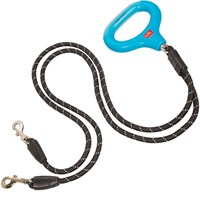 Wigzi Dual Doggie Gel Leash Black  MediumLarge