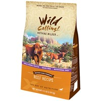 Wild Calling Western Plains Dog Food  Beef 4.5 lb