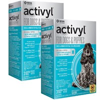 12 MONTH Activyl SpotOn for Medium Dogs  Puppies 2244 lbs