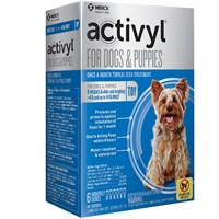 6 MONTH Activyl SpotOn for Toy Dogs  Puppies 414 lbs