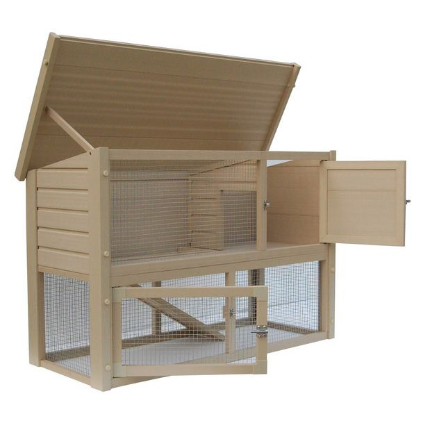 New Age Pet ecoFLEX Columbia Rabbit Hutch Grey