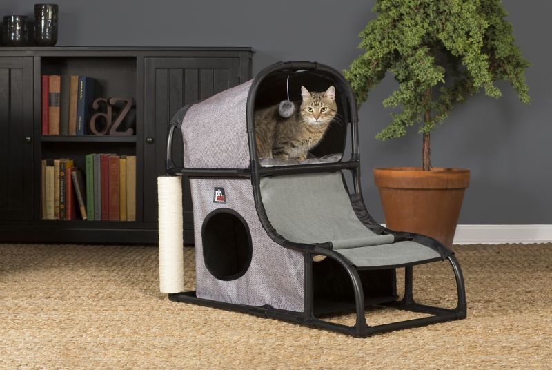 Prevue Catville Loft Cat Furniture Gray