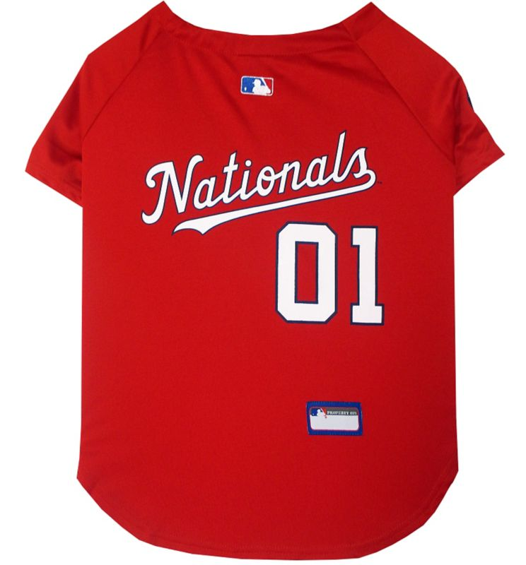 MLB Washington Nationals Dog Jersey Large