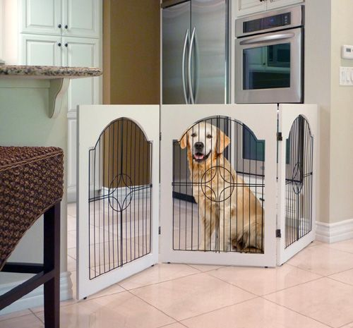 Universal Free Standing Wire Pet Gate White