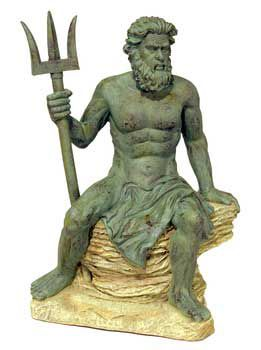 Deep Blue Poseidon Statue Decoration LG