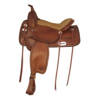 Tex Tan Salem Flex Western Trail Saddle 17In Choco