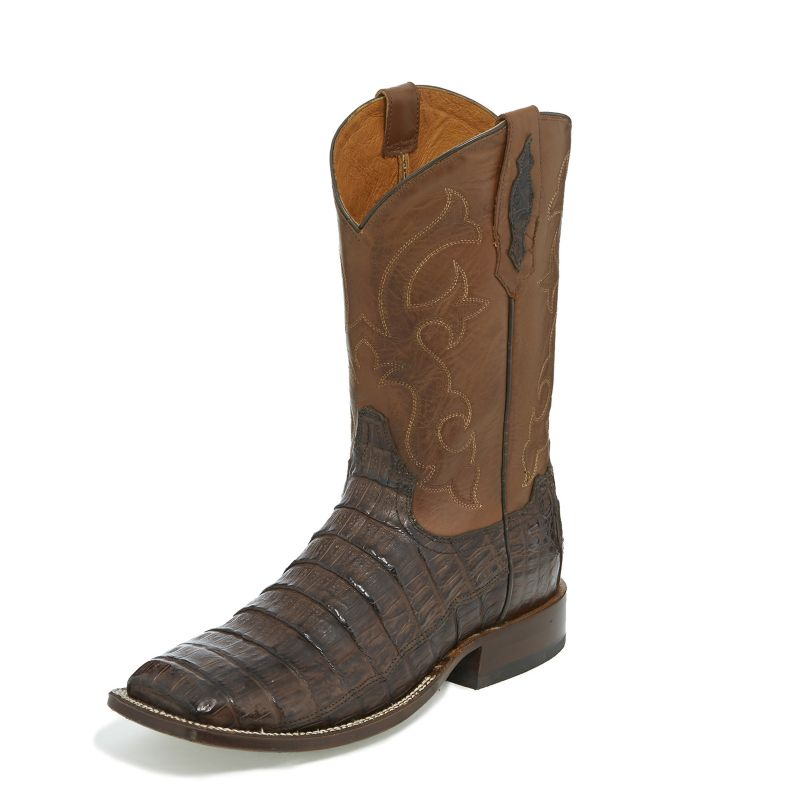 Tony Lama Mens Canyon Square Toe Brn Boots 11.5D