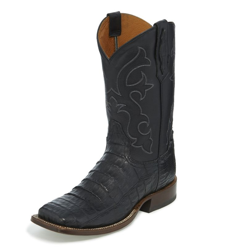 Tony Lama Mens Canyon Square Toe Blk Boots 10.5D