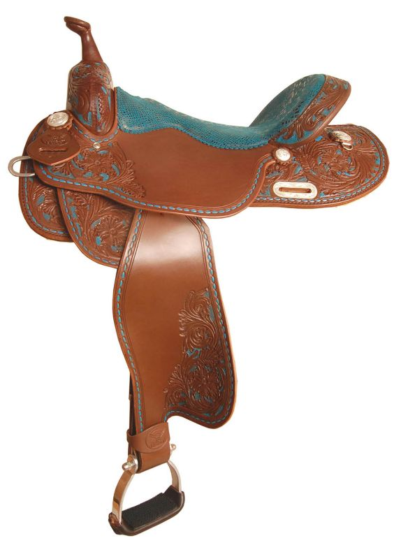 Big Horn Painted Barrel Saddle 15in
