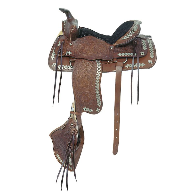 American Saddlery Parade Diamond Rough Saddle Blk