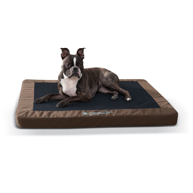 KH Mfg Comfy N Dry IndoorOutdoor Choc Bed Large