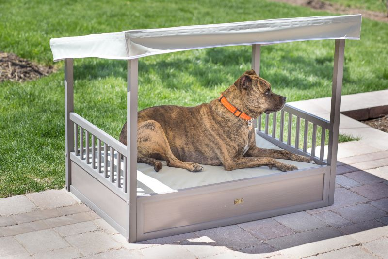 New Age Pet ecoFLEX Grey Outdoor Dog Bed