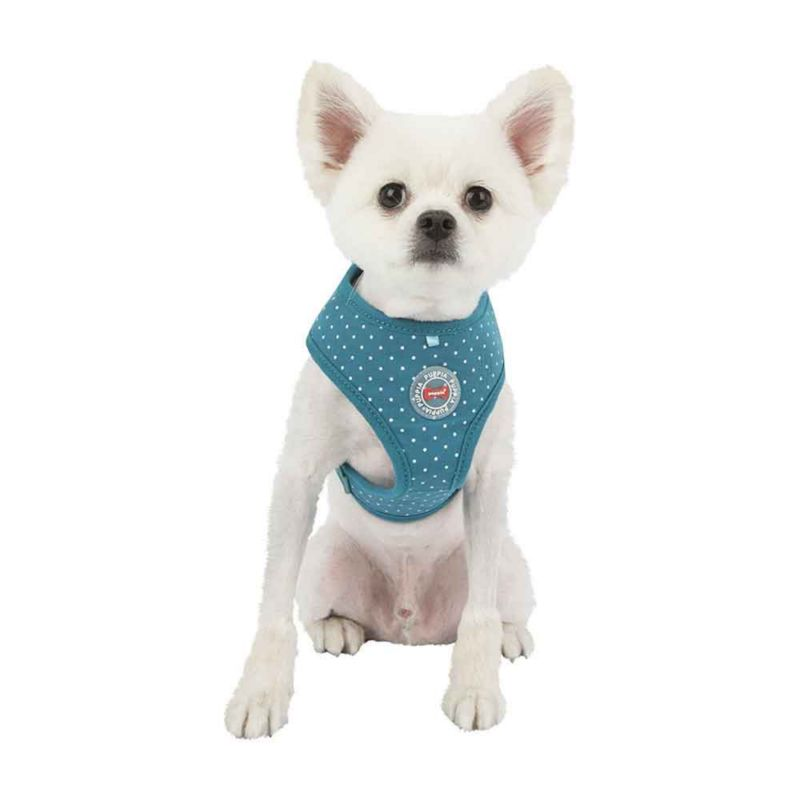 Puppia Dotty II Vest Dog Harness Small Teal