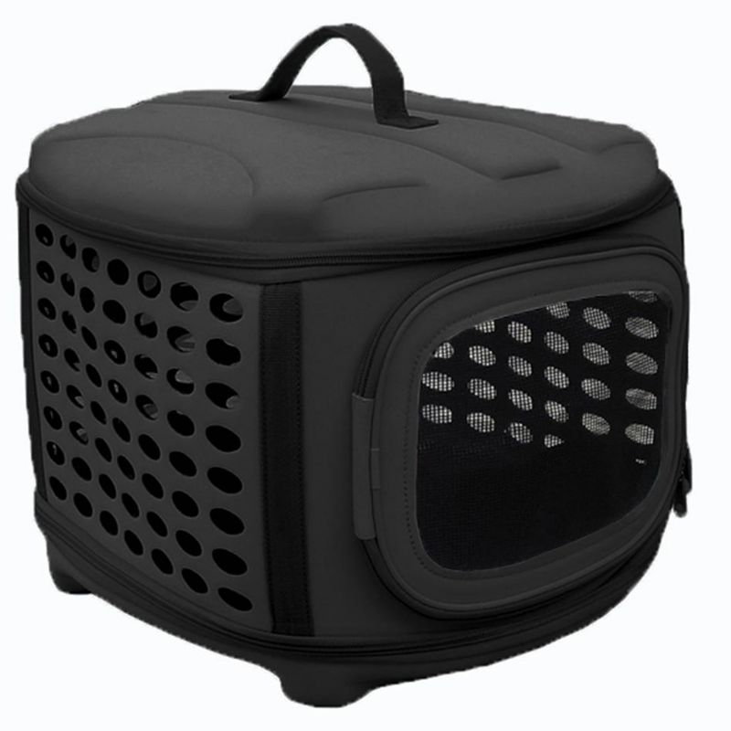 Pet Life Circular MilitaryGrade Pet Carrier Gray