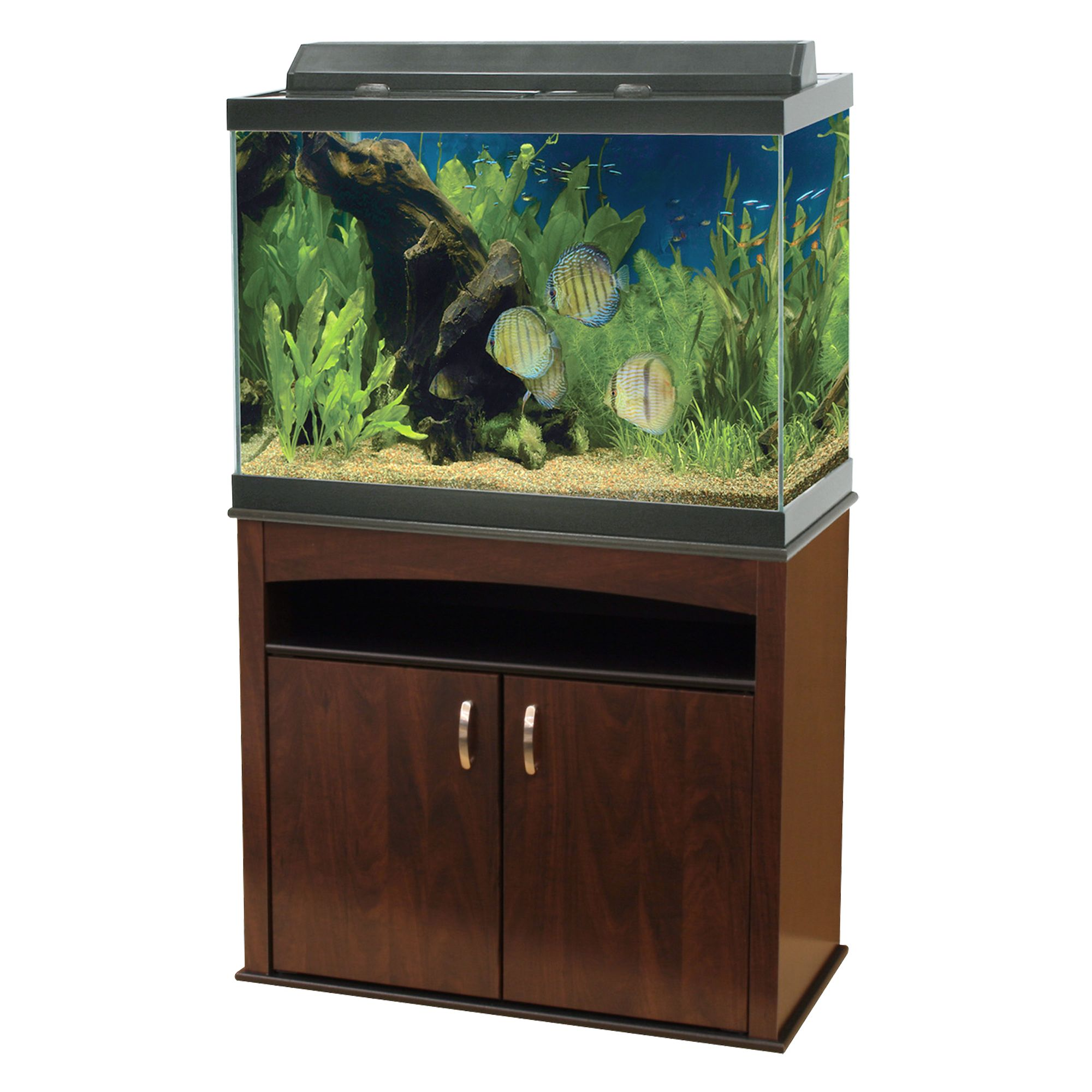 Aqueonreg 65 Gallon Aquarium Ensemble size 65 Gal Brown