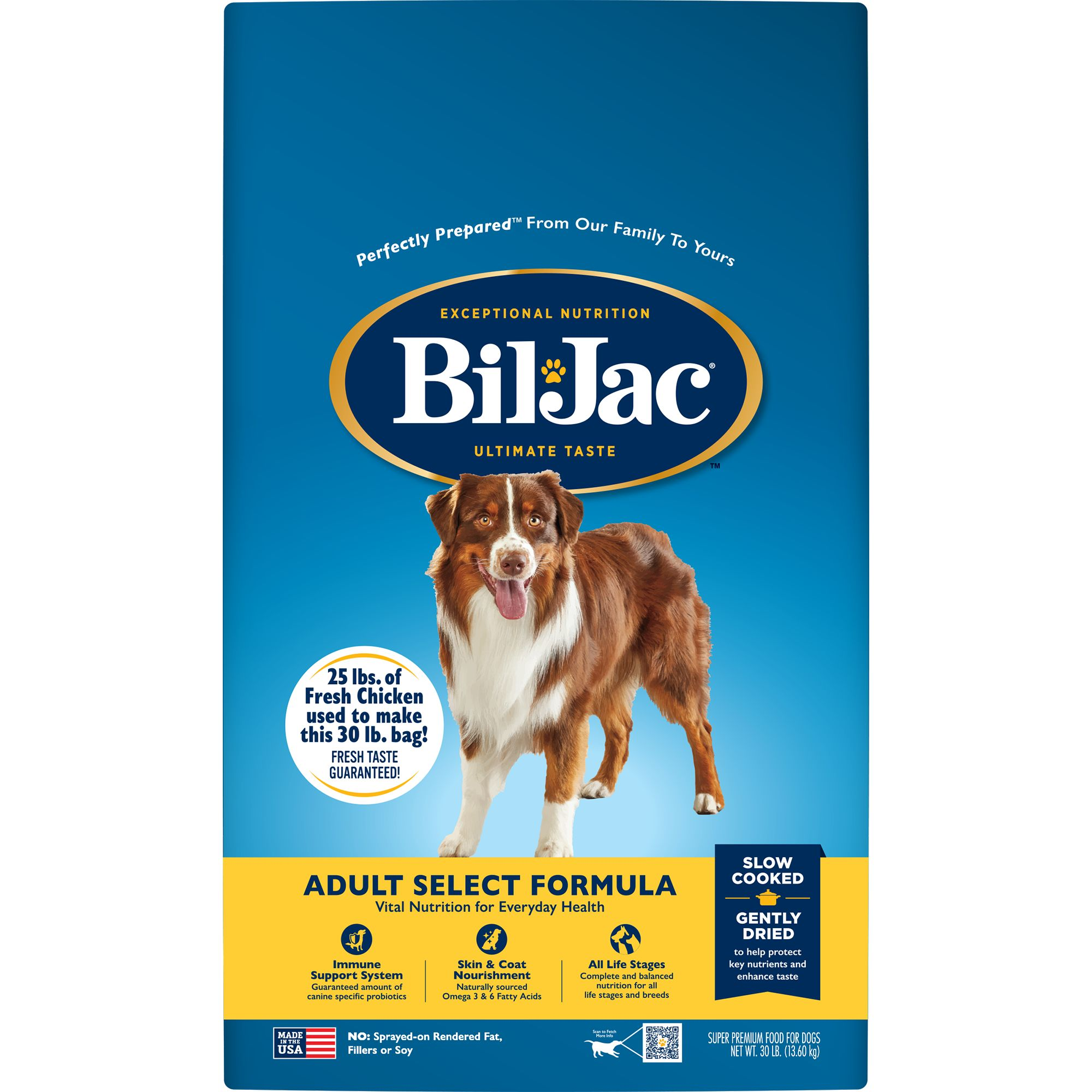 BilJacreg Select Adult Dog Food  Chicken size 30 Lb