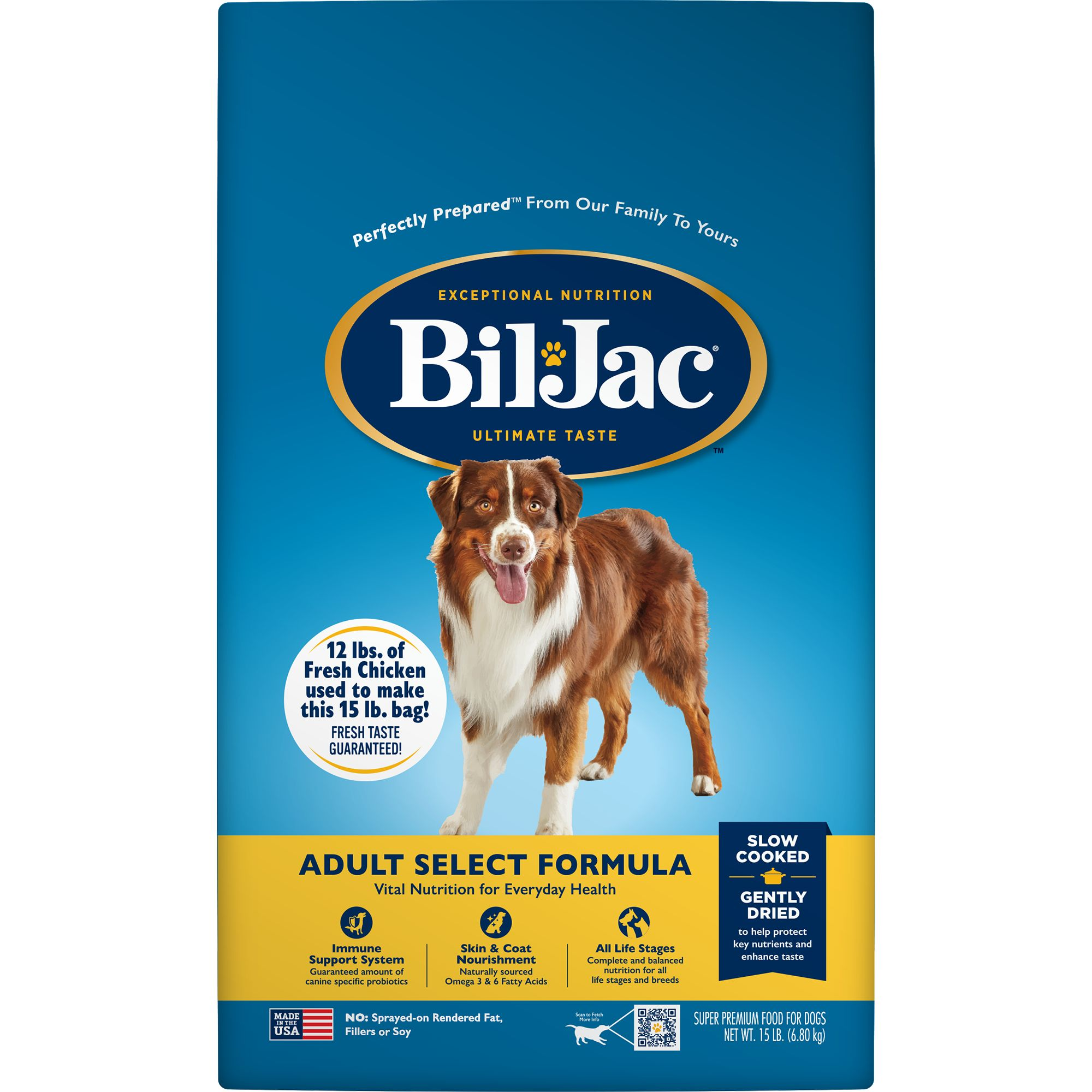 BilJacreg Select Adult Dog Food  Chicken size 15 Lb