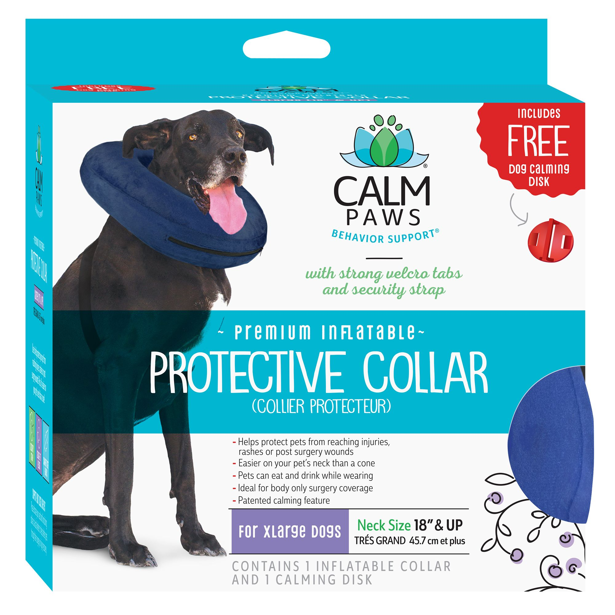 21st Century Inflatable Protective Pet Collar size X Large Blue