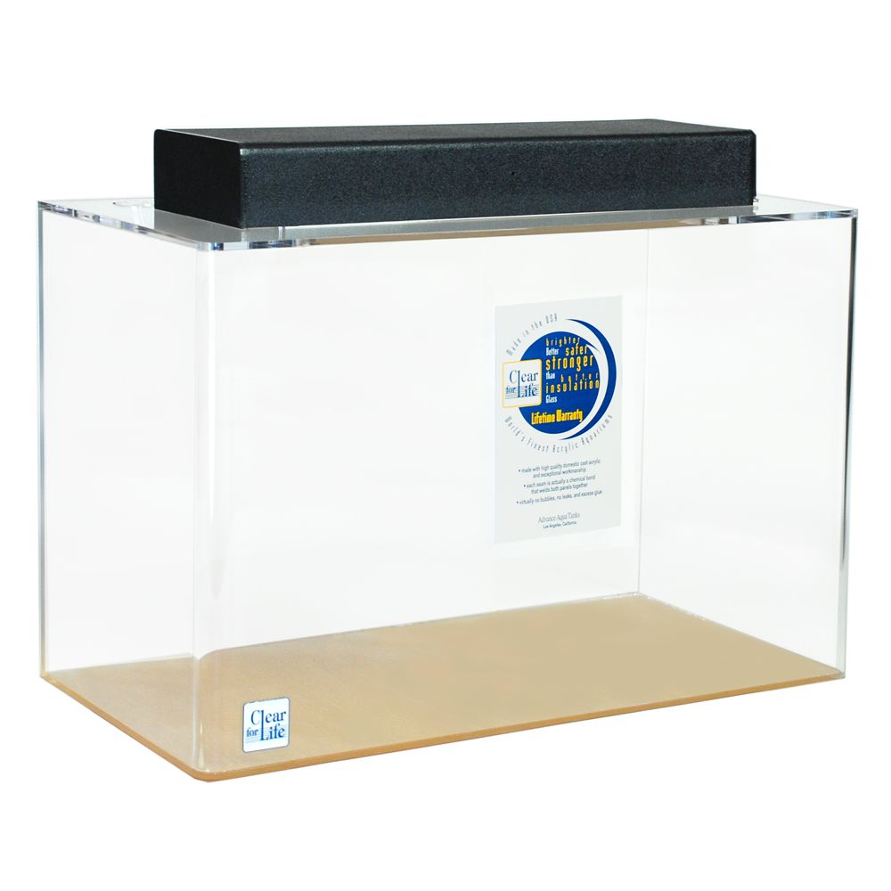 ClearForLife 20 Gallon Rectangle Aquarium size 20 Gal Clear