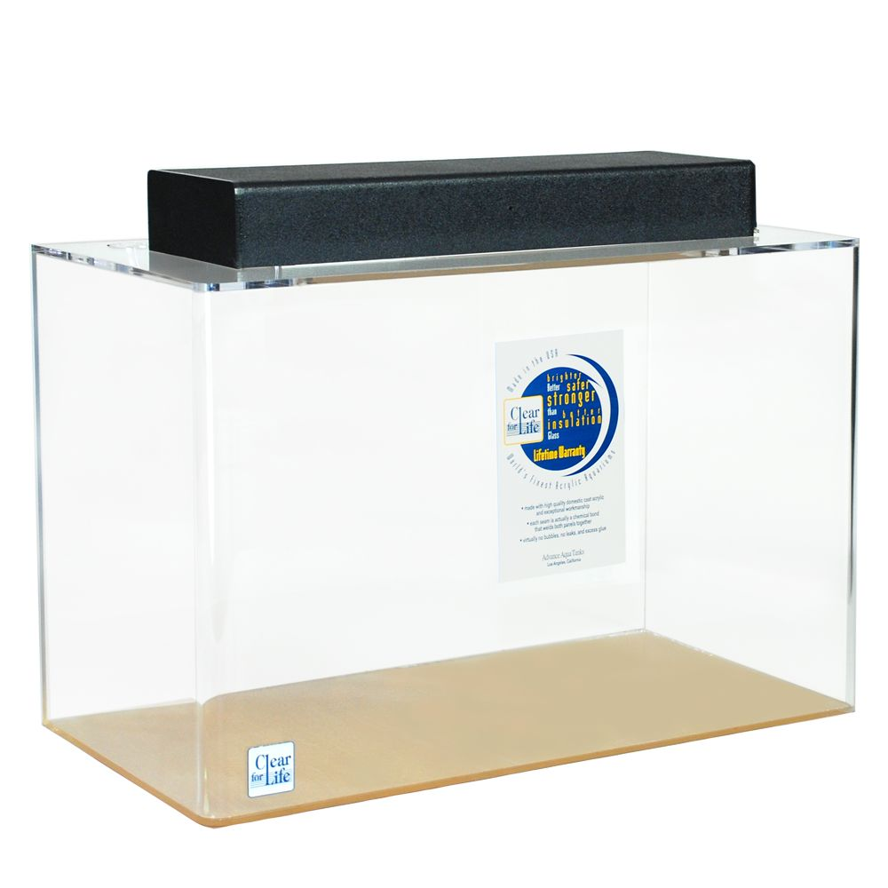 ClearForLife 10 Gallon Rectangle Aquarium size 10 Gal Clear