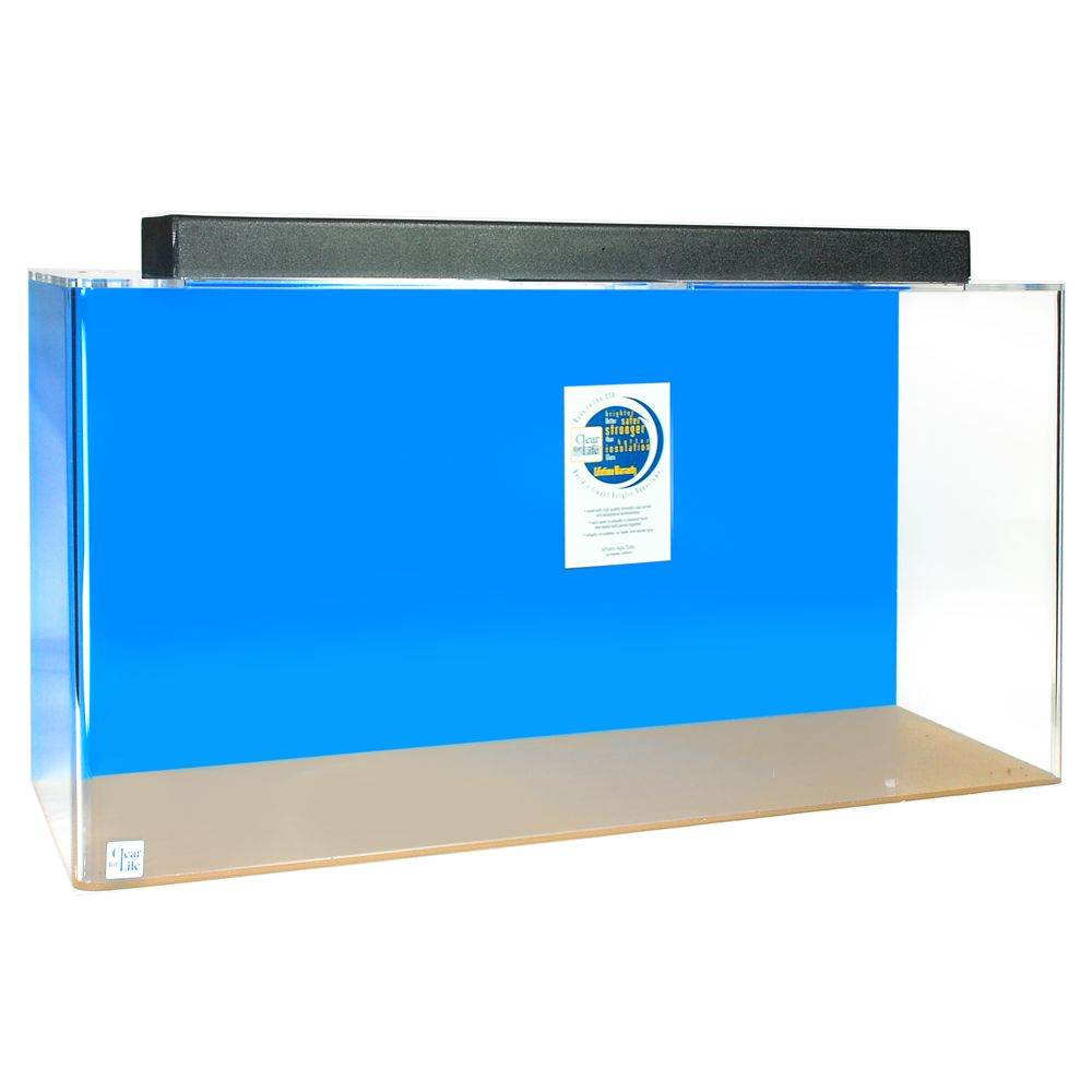 ClearForLife 100 Gallon Rectangle UniQuarium size 100 Gal Blue