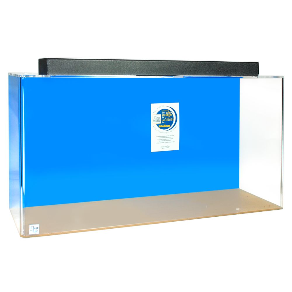 ClearForLife 240 Gallon Rectangle UniQuarium size 240 Gal Blue
