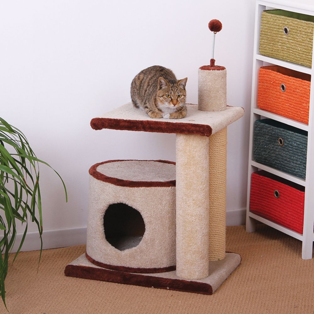 PetPals Cat Tree Cream  Brown