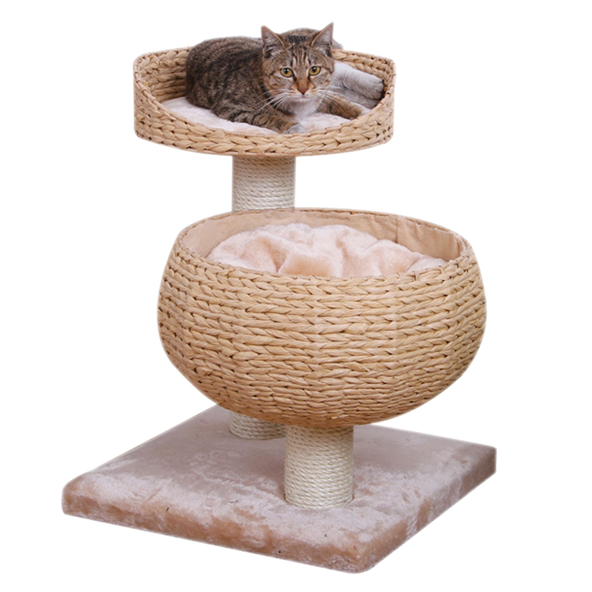 PetPals Eco Friendly Cat Tree Cream  Brown