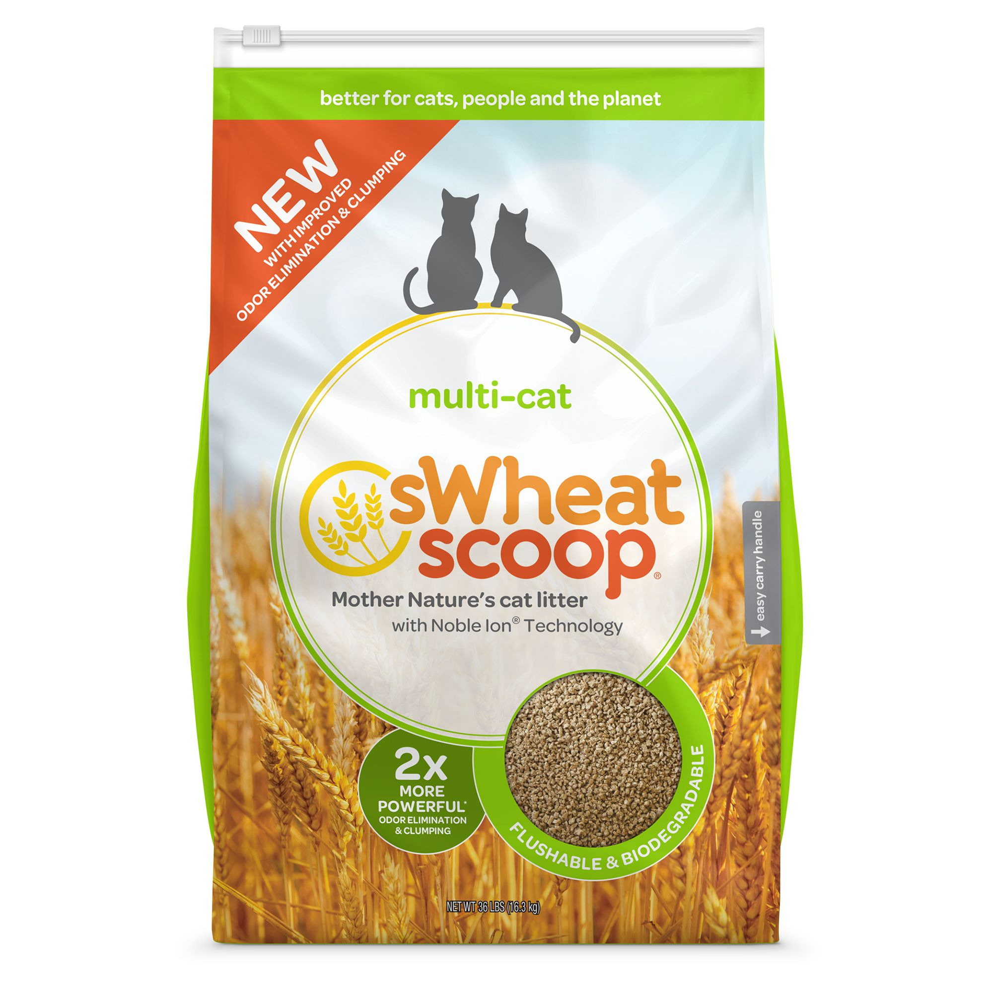 Swheat Scoopreg Natural Clumping MultiCat Litter size 36 Lb