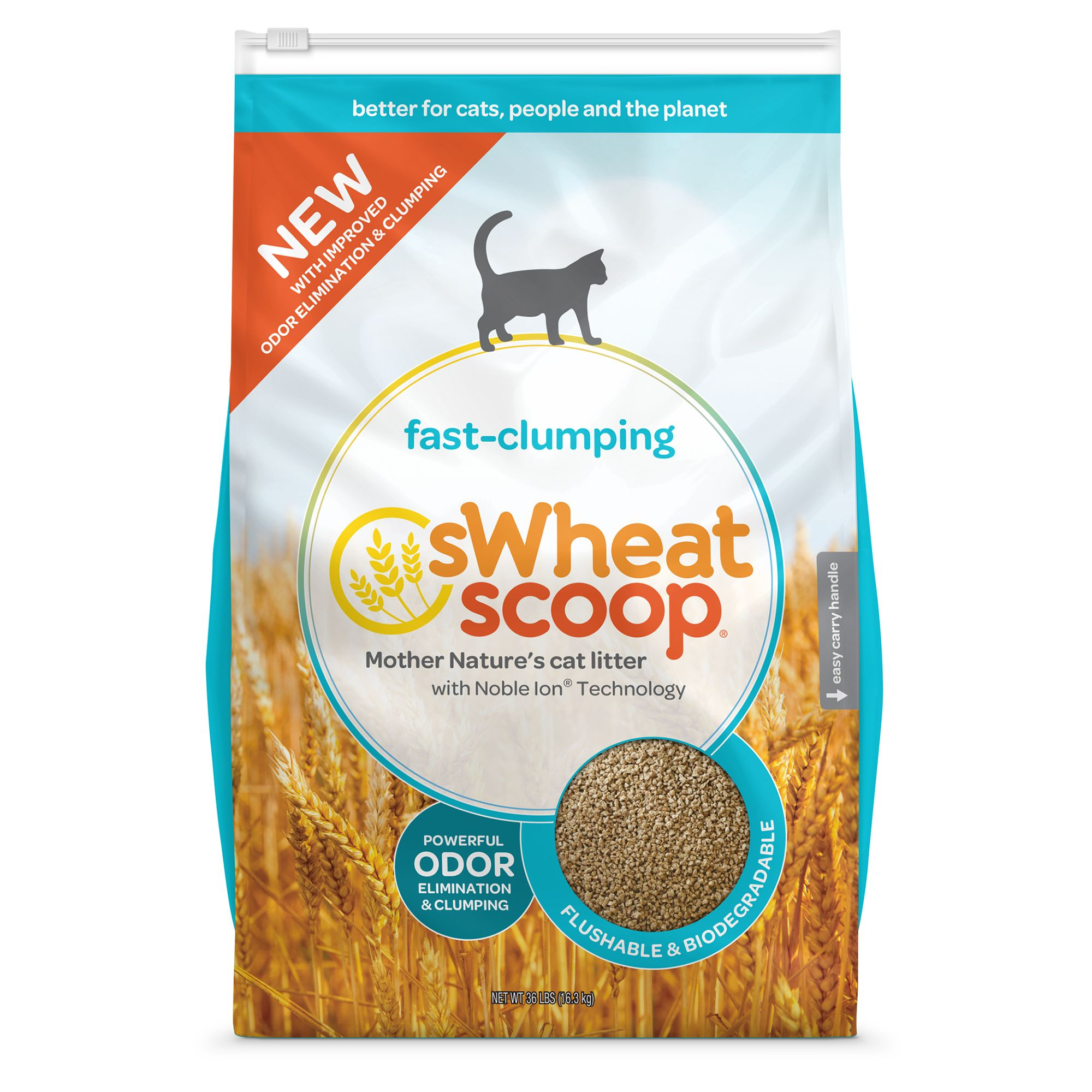 Swheat Scoopreg Natural Clumping Cat Litter size 36 Lb