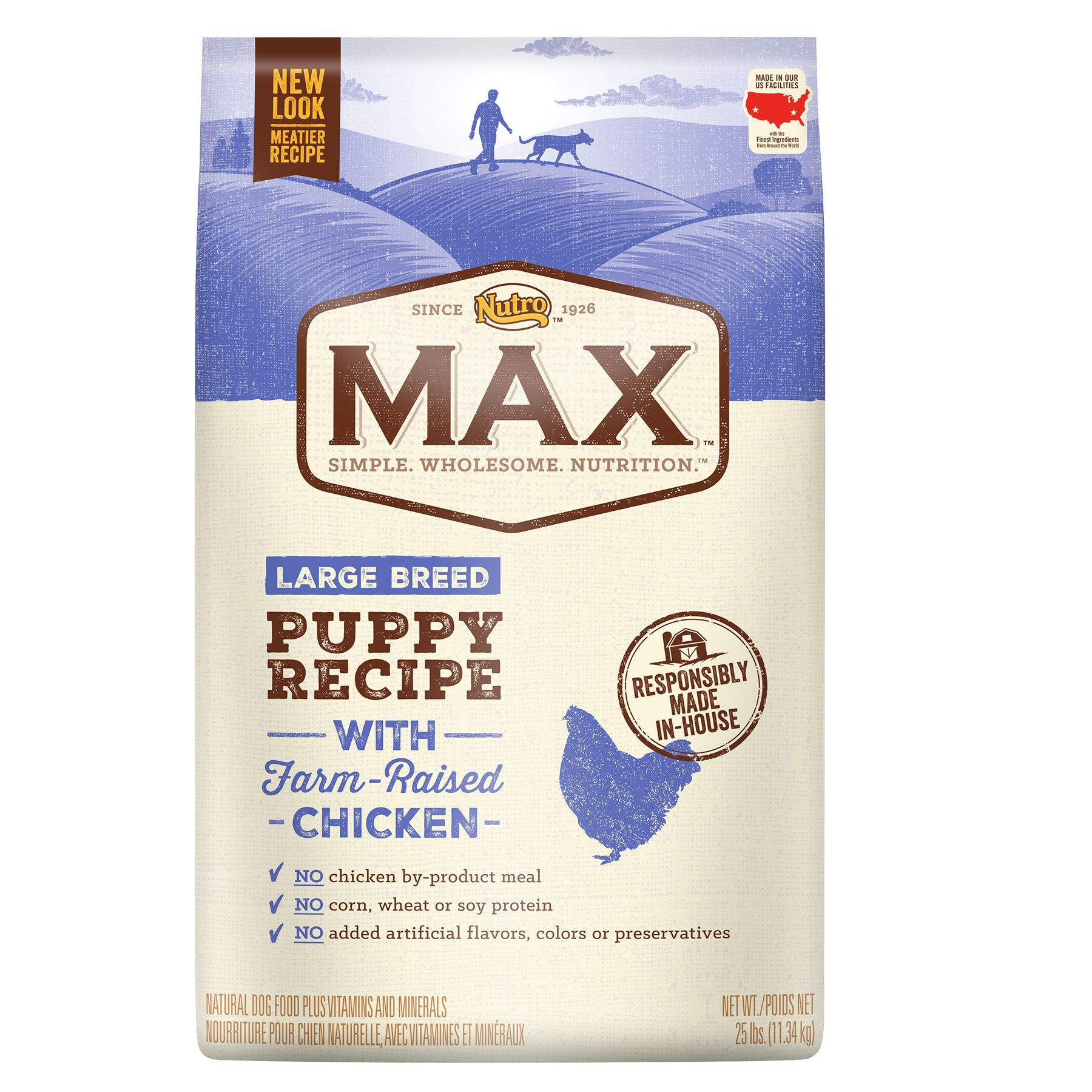 Nutroreg Maxreg Large Breed Puppy Food  Natural Chicken size 25 Lb