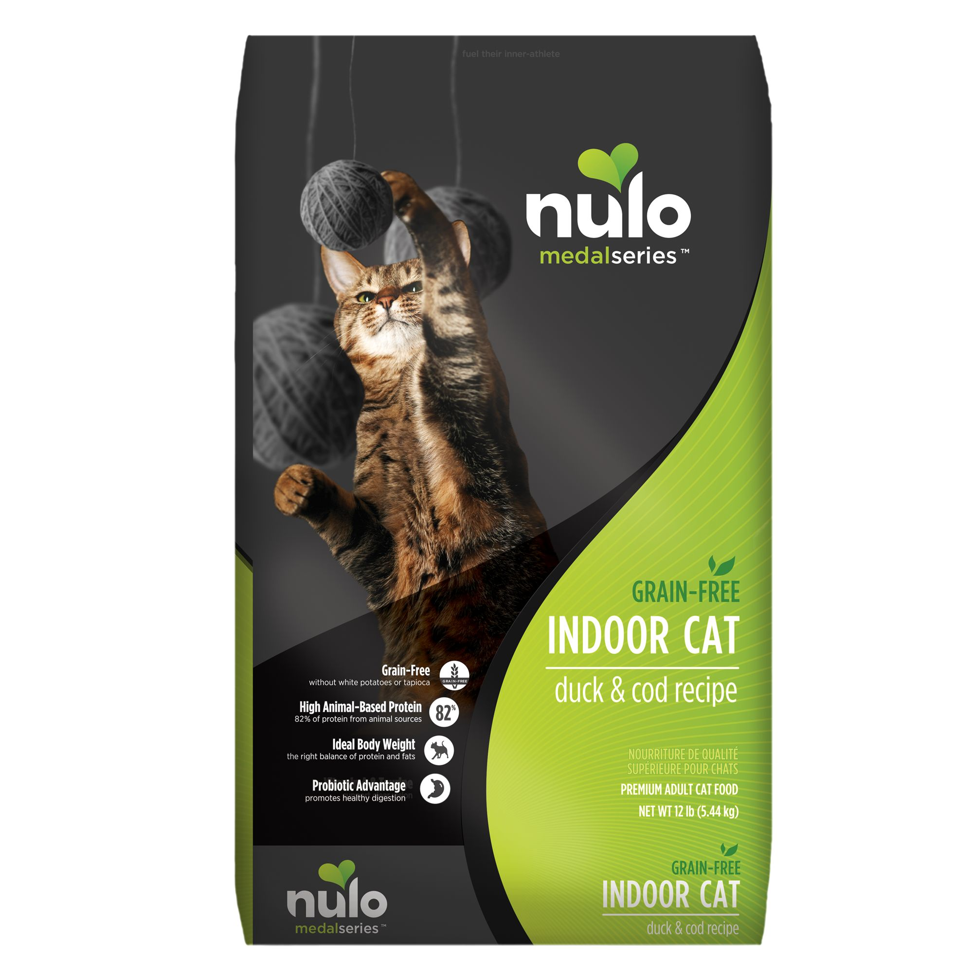 Nulo MedalSeries Indoor Adult Cat Food  Grain Free Duck and Cod size 12 Lb