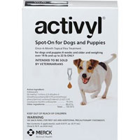 Activyl For Small Dogs 14  22 lbs Orange 4 Pack