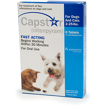 Capstar Cat  Small Dog 11mg 225 lbs Blue 12 Tablet