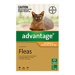 Advantage Kittens  Small Cats 110lbs 12 Doses