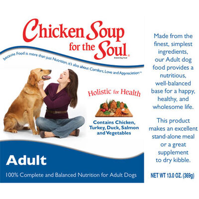 Chicken Soup for the Dog Lover's Soul Canned Dog Food 12/13 oz