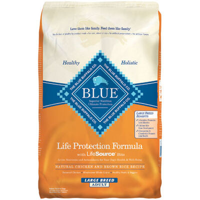Blue Buffalo Large Breed Adult Dry Dog Food Chicken & Brown Rice 30 lb