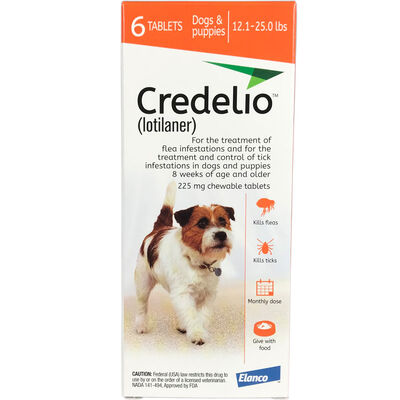 Credelio Chewable Tablet 12.1-25 lbs 6 pk
