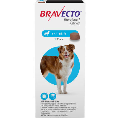 Bravecto Chews 1 Dose Large Dog 44-88 lbs
