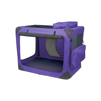 Deluxe Portable Soft Dog Crate Lavender 30""