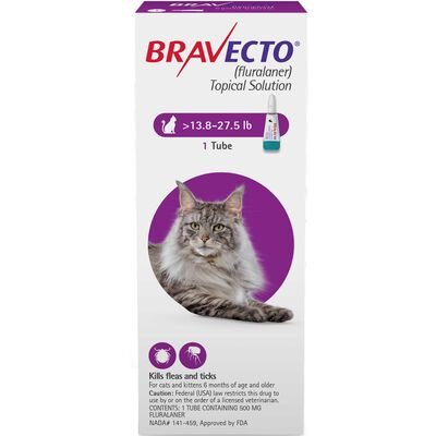 Bravecto for Cats 13.8-27.5 lbs 1 dose